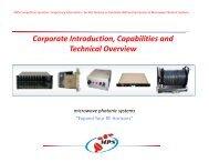 MPS CorporateCapabilities - BWS Microwave Marketing