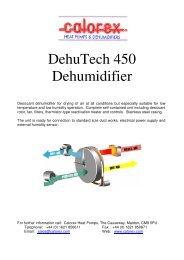 DehuTech 450 Dehumidifier - Calorex