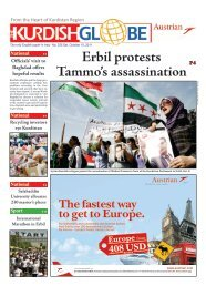 Erbil protests Tammo's assassination - Kurdish Globe