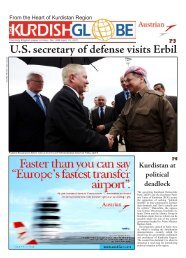 U.S. secretary of defense visits Erbil - Kurdish Globe
