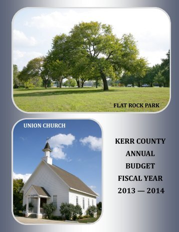 to view the Kerr County Budget