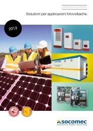 Soluzioni per applicazioni fotovoltaiche - Socomec