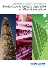Solutions pour la fiabilité, la disponibilité et l'efficacité énergétique