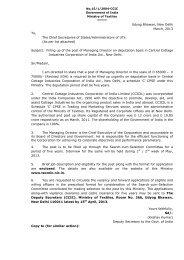 Udyog Bhawan, New Delhi March, 2013 To, The Chief Secretaries ...