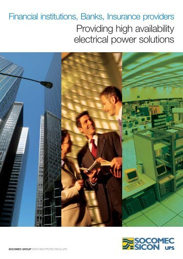 Providing high availability electrical power solutions - Socomec