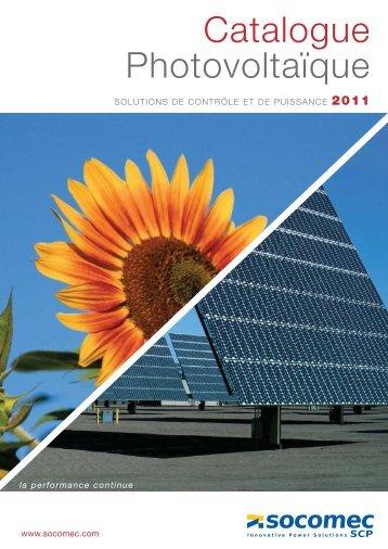 Catalogue Photovoltaïque - Socomec