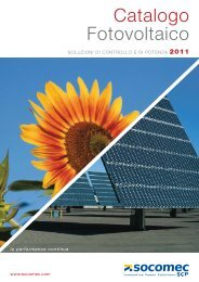 Catalogo Fotovoltaico - Socomec