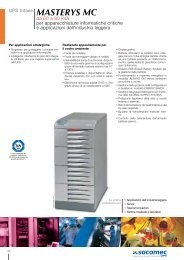 UPS trifase MASTERYS MC da 60 a 80 kVA per ... - Socomec