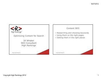 Optimizing Your Content for Search - MarketingProfs