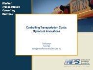 Controlling Transportation Costs - Management Partnership Services
