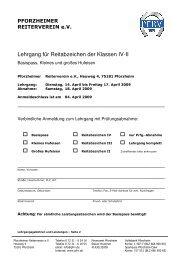 Lehrgang für Reitabzeichen der Klassen IV-II - Pforzheimer ...
