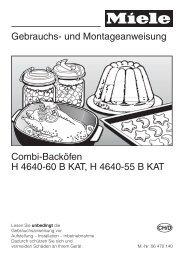 Gebrauchs- und Montageanweisung - Wiesmann Küchen