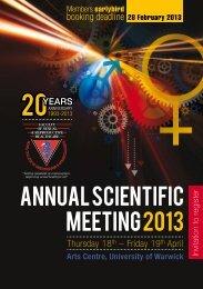 Annual Scientific Meeting 2013 - Eventtrac