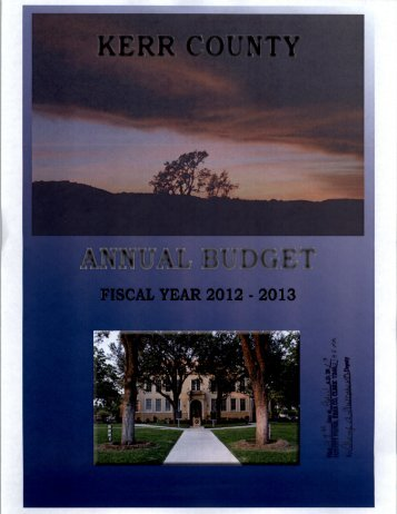 Adopted Budget FY 2012-2013 - Kerr County