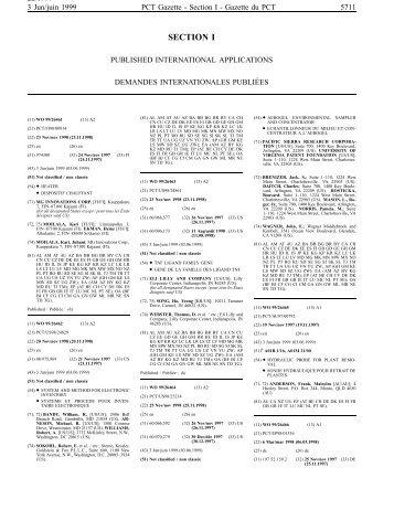 PCT/1999/22 - World Intellectual Property Organization