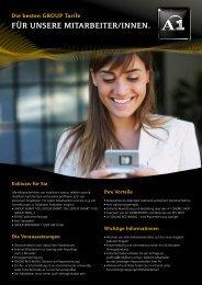 für unsere mitarbeiter/innen. - FCG - Telekom Austria - A1.net