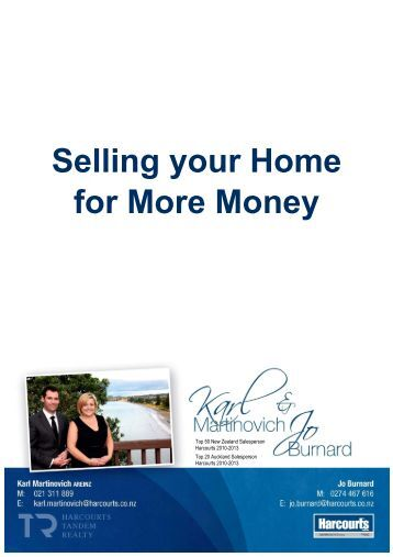 Selling Your Home for More Money - Harcourts Real Estate