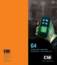 G4 Portable Multigas Detector Brochure - CSE Corporation