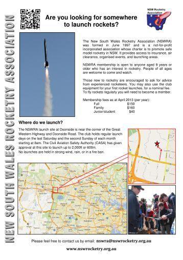 NSWRA 2 page brochure Version 12 - NSW Rocketry Association