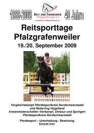 Reitsporttage Pfalzgrafenweiler - Pforzheimer Reiterverein e.V.