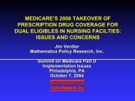 Medicare's 2006 Takeover of Prescription Drug Coverage for Dual ...