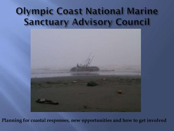 Outer Coast Oil Spill Planning - Ecology presentation