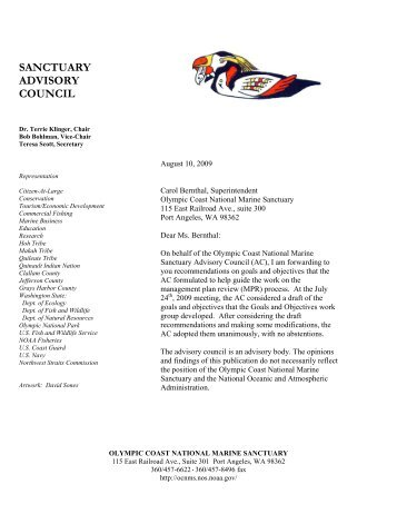 Advisory Council Recommendations for Revised OCNMS Goals and ...