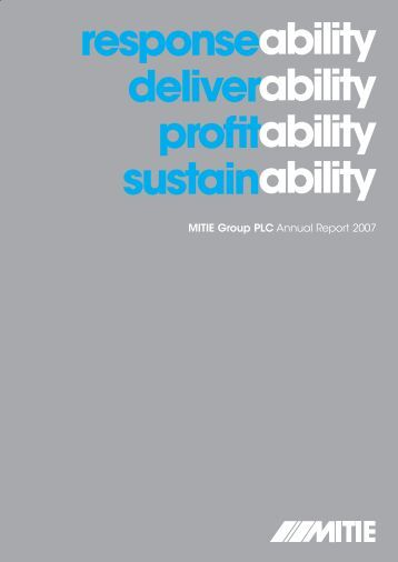 responseability deliverability profitability sustainability - Mitie