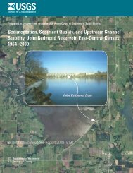Sedimentation, Sediment Quality, and Upstream Channel Stability ...
