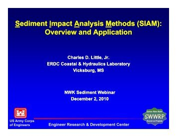 Sediment Impact Analysis Methods (SIAM): ethods (SIAM): Sediment ...