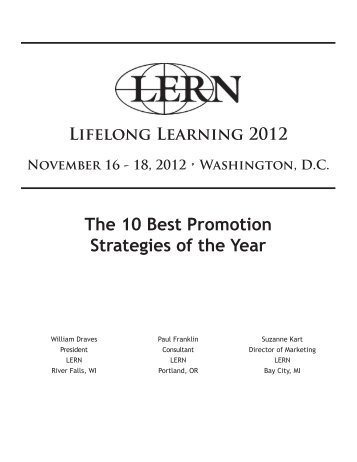 The 10 Best Promotion Strategies of the Year