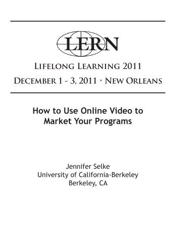 How to Use Online Video to Market Your Programs