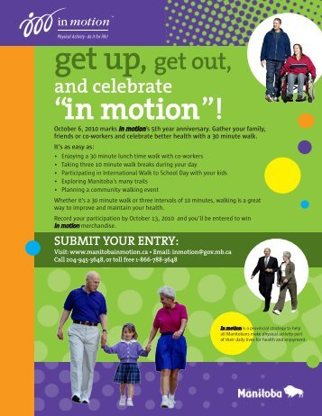 en mouvement »! - Manitoba in motion