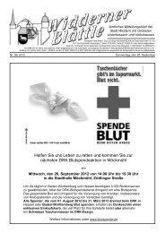 DRK - Deutsches Rotes Kreuz - Stadt Widdern