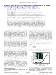 Annealing effect on the optical response and interdiffusion of n-ZnO ...