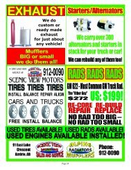 We do custom or ready made exhaust for just about any vehicle!
