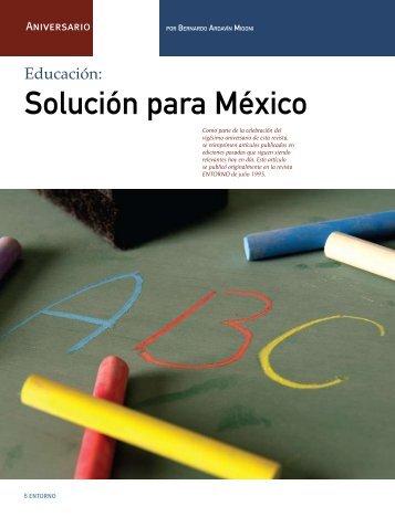 Educación: Solución para México - Coparmex