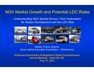 NGV Market Growth and Potential LDC Roles - NCUC