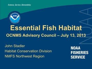 Essential Fish Habitat Presentation - Olympic Coast National Marine ...
