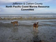 North Pacific Coast Marine Resources Committee presentation