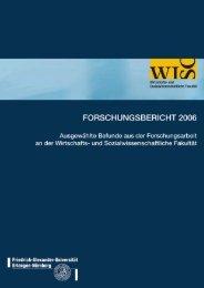 Forschungsbericht 2006 - am Fachbereich ...