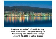 itw2009volos v2 - the IEEE Information Theory Society