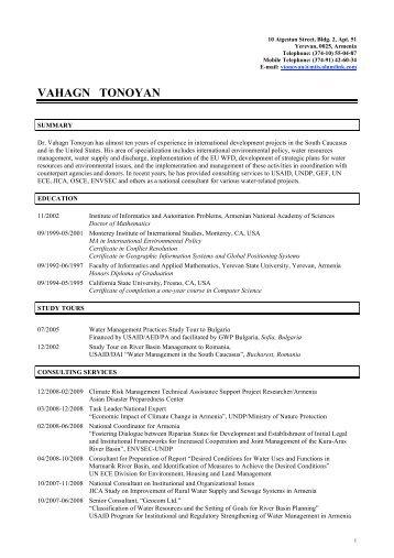 Curriculum Vitae - EcoSocial Solutions