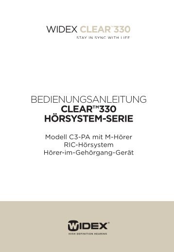 clear™330 hörsystem-serie - Widex.pro
