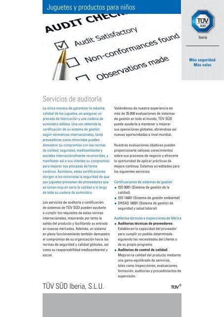 Niños Auditoría Servicios Y Juguetes Productos De Süd Para Tüv HE2YWD9I