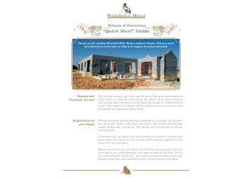 Quick Start Guide PDF - Century Property Developments