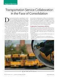 Transportation Service Collaboration in the Face of Consolidation