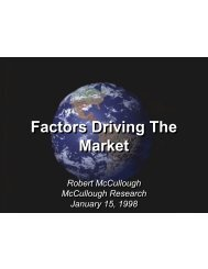 Factors Driving The Market - McCullough Research