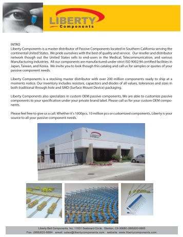 Master Product Catalog (PDF) - Liberty Bell Components, Inc.