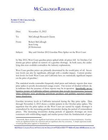 A report - McCullough Research
